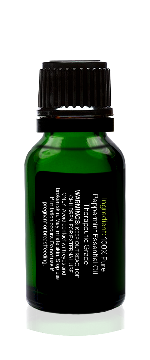 Peppermint Organic Essential Oil 15ml (1/2 oz) -100% Pure & Undiluted - Tropical-Holistic