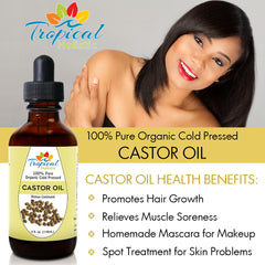 Cold Pressed Castor Oil for hair growth