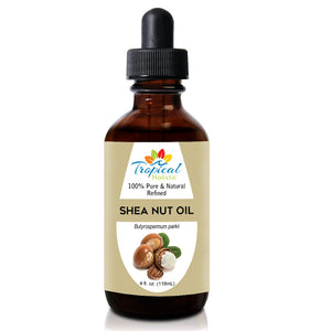 100% Pure Refined Organic Shea Nut Oil 4Oz - Tropical-Holistic