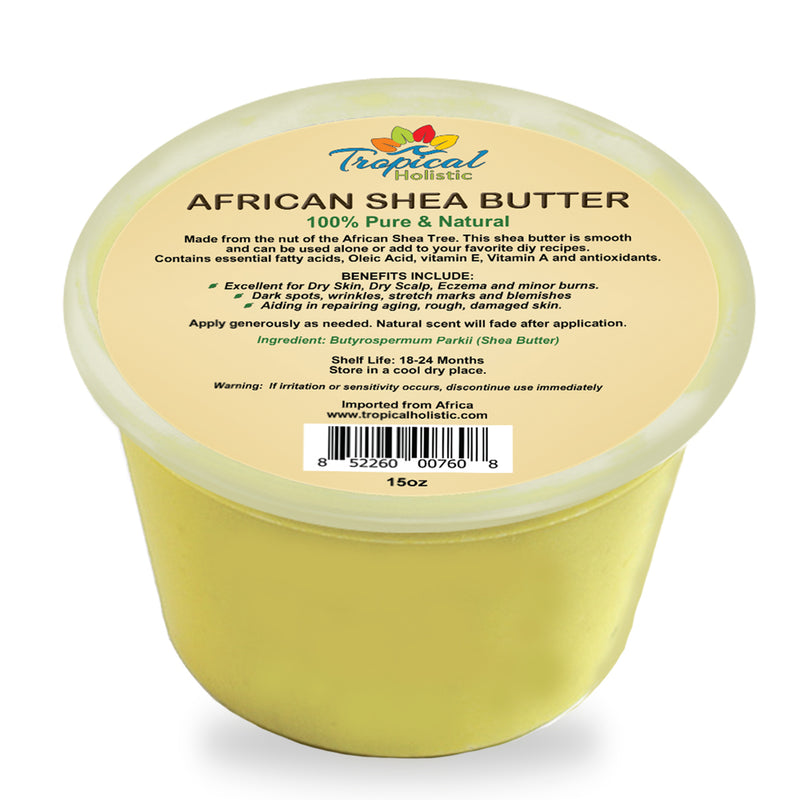 100% Pure Yellow African Shea Butter 15 oz - Tropical-Holistic
