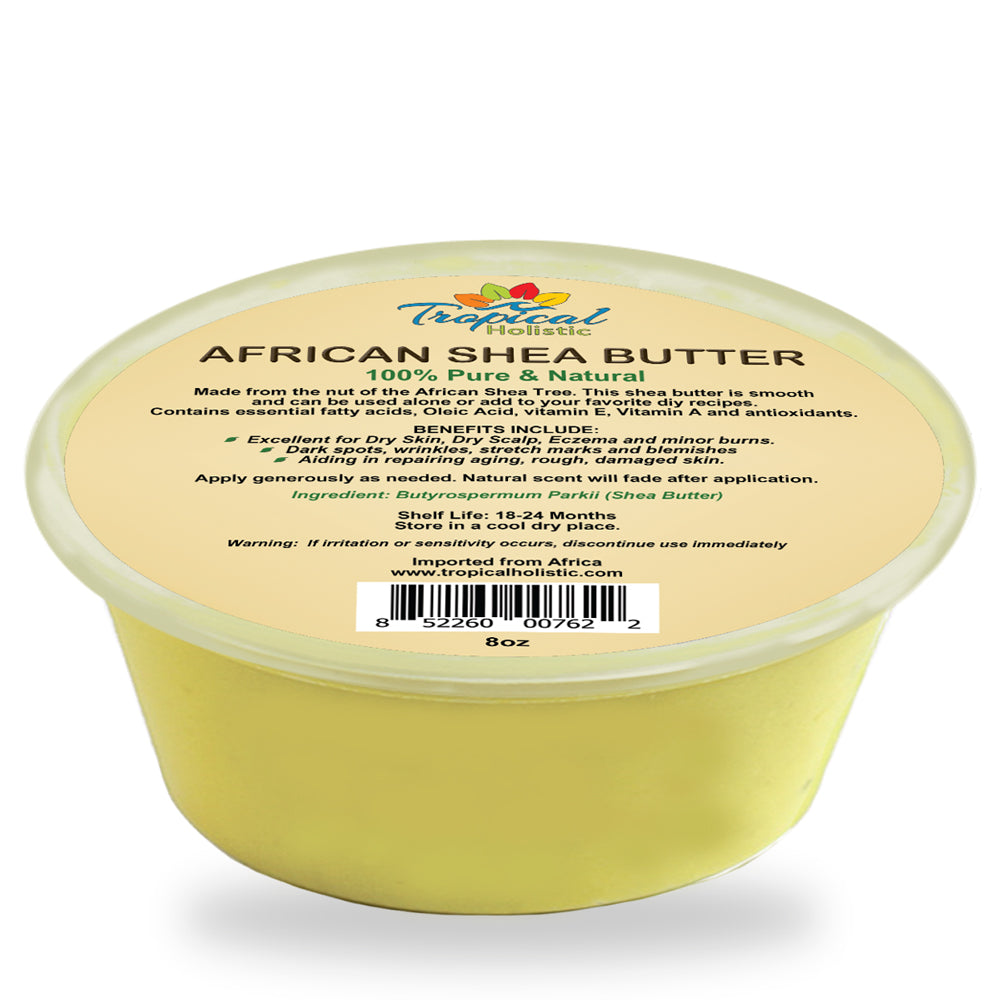 100% Pure Yellow African Shea Butter 8 oz