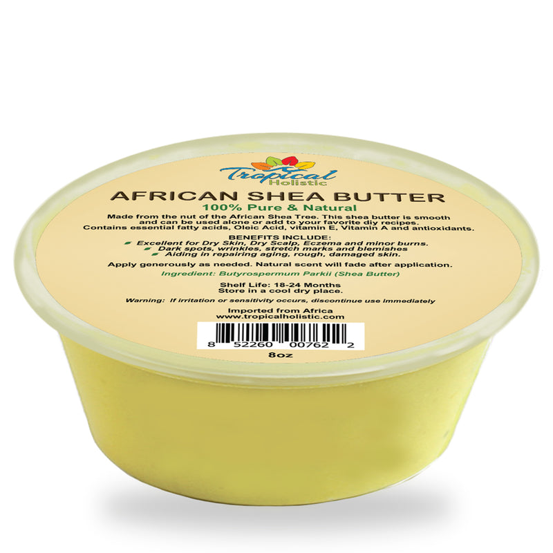 100% Pure Yellow African Shea Butter 8 oz - Tropical-Holistic