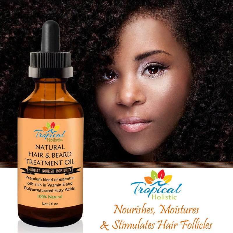 100% Natural Hair & Beard Growth Treatment Oil 2 oz