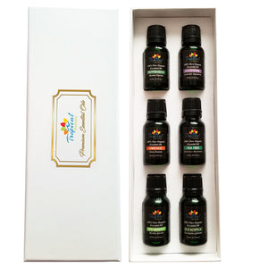 Premium Essential Oil Aromatherapy Starter Kit, (Pack of 6/15ml) - Tropical-Holistic