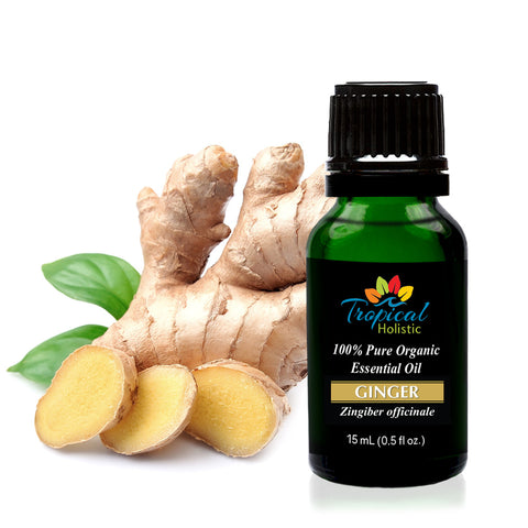 Organic Ginger Essential Oil 15ml (1/2 oz), 100% Pure Therapeutic Grade