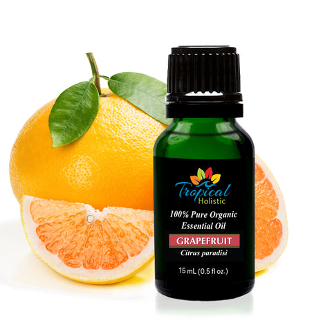 Organic Grapefruit Essential Oil 15ml (1/2 oz), 100% Pure Therapeutic Grade