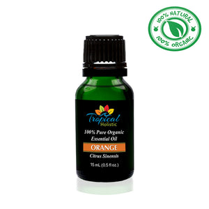 Orange Organic Essential Oil 15ml (1/2 oz) -100% Pure & Undiluted- Tropical-Holistic