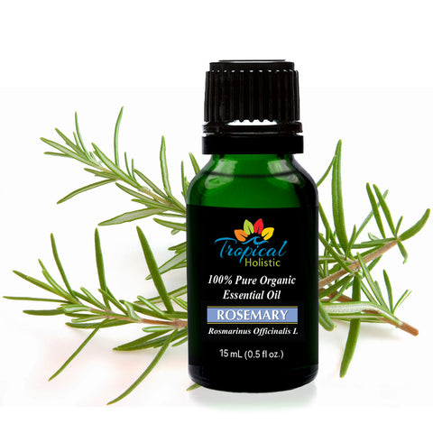 Organic Rosemary Essential Oil 15ml (1/2 oz), 100% Pure Therapeutic Grade