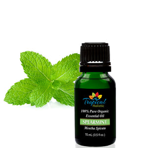 Spearmint Organic Essential Oil 15ml (1/2 oz) -100% Pure & Undiluted - Tropical-Holistic