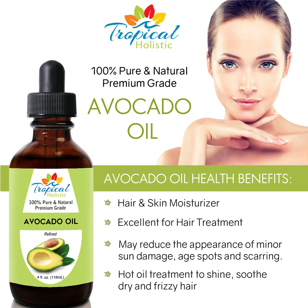 100% Pure Refined Avocado Oil 4 oz