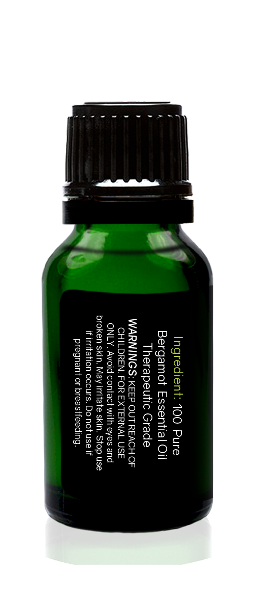 Bergamot Organic Essential Oil 15ml (1/2 oz), 100% Pure Therapeutic Grade Aromatherapy - Tropical-Holistic