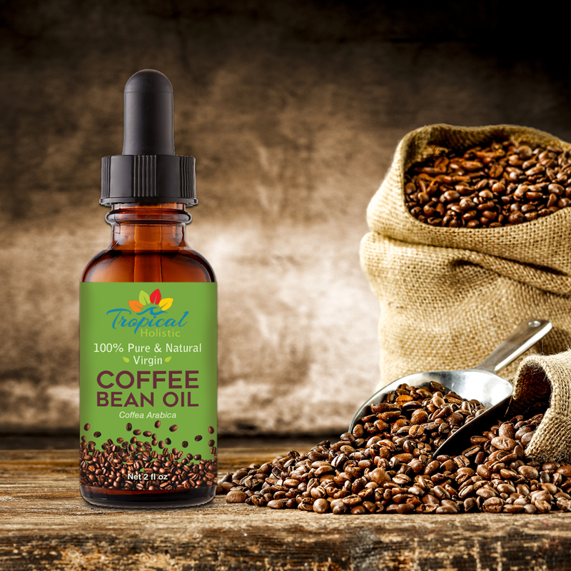 Roasted Coffee Bean Oil 2oz Glass Bottle– Virgin, Cold Pressed, Unrefined - Tropical-Holistic