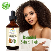 100% Pure Fractionated Coconut Oil 4oz - Tropical-Holistic
