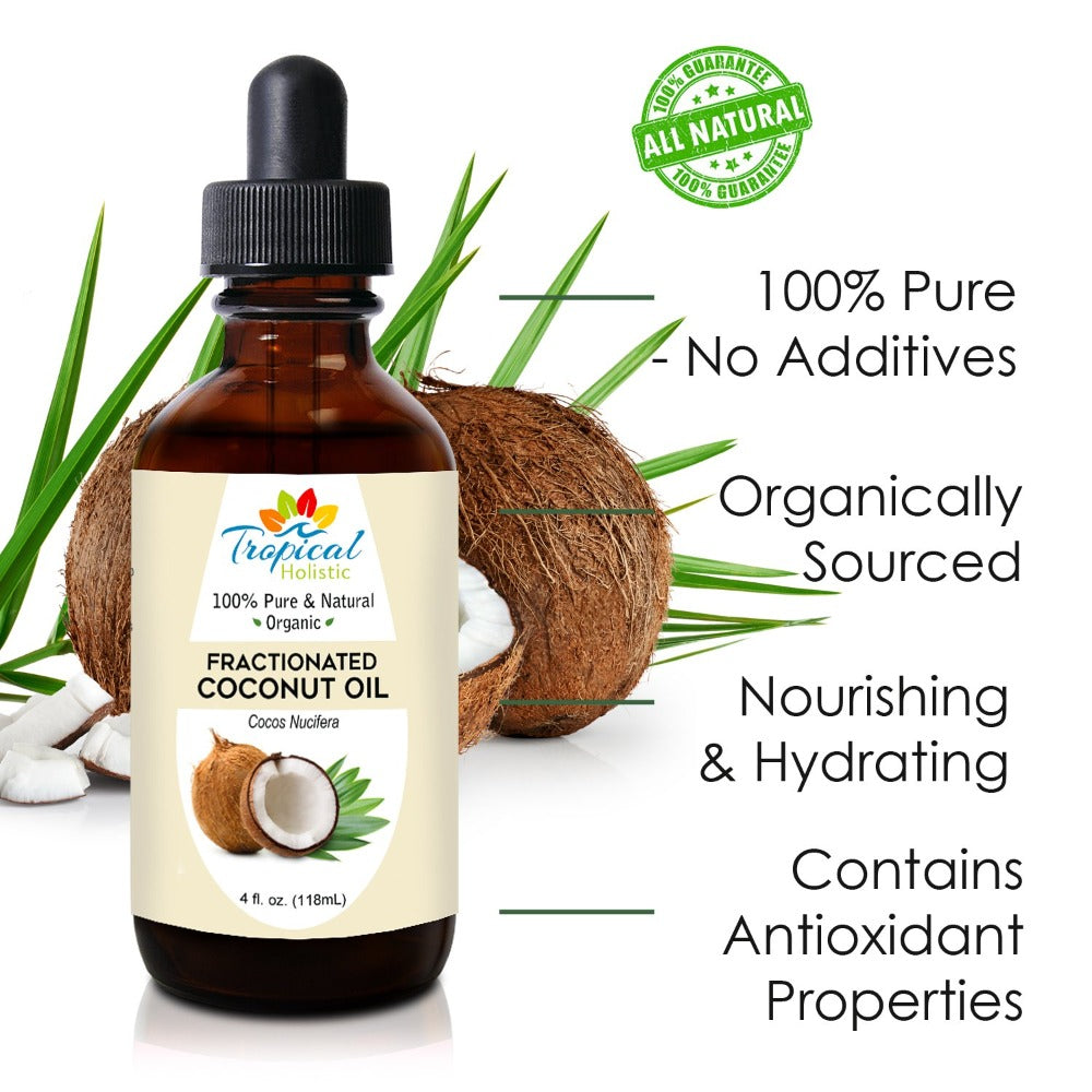 100% Pure Fractionated Coconut Oil 4oz