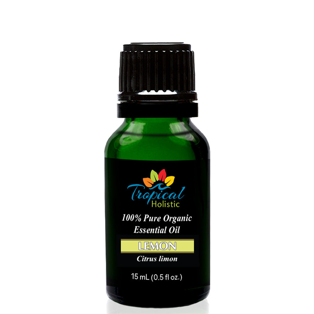 Organic Lemon Essential Oil 15ml (1/2 oz), 100% Pure Therapeutic Grade