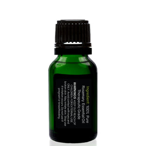 Organic Rosemary Essential Oil 15ml (1/2 oz), 100% Pure Therapeutic Grade - Tropical-Holistic
