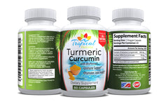 100% Pure Turmeric Curcumin With BioPerine 1200mg per serving -60 Ct - Tropical Holistic  - 4