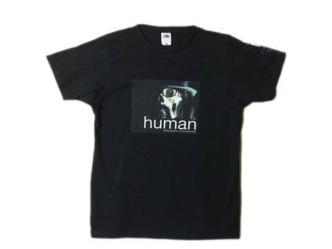 Skull 'human' UK tour short sleeve t-shirt (Harvey Summers feat. Laura Cole)