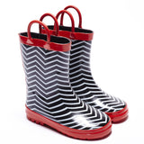Boys Gumboot - Chevron Stripe