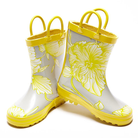 Girls Gumboot - Floral Sunshine