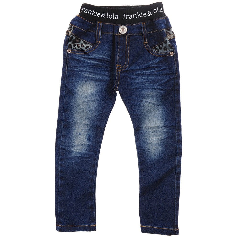 Denim Jeans - Leopard