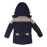 Boys Raincoat - Navy/Taupe