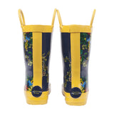 Girls Gumboots - Navy Floral