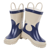 Boys Gumboots - Navy/Taupe Cowboy