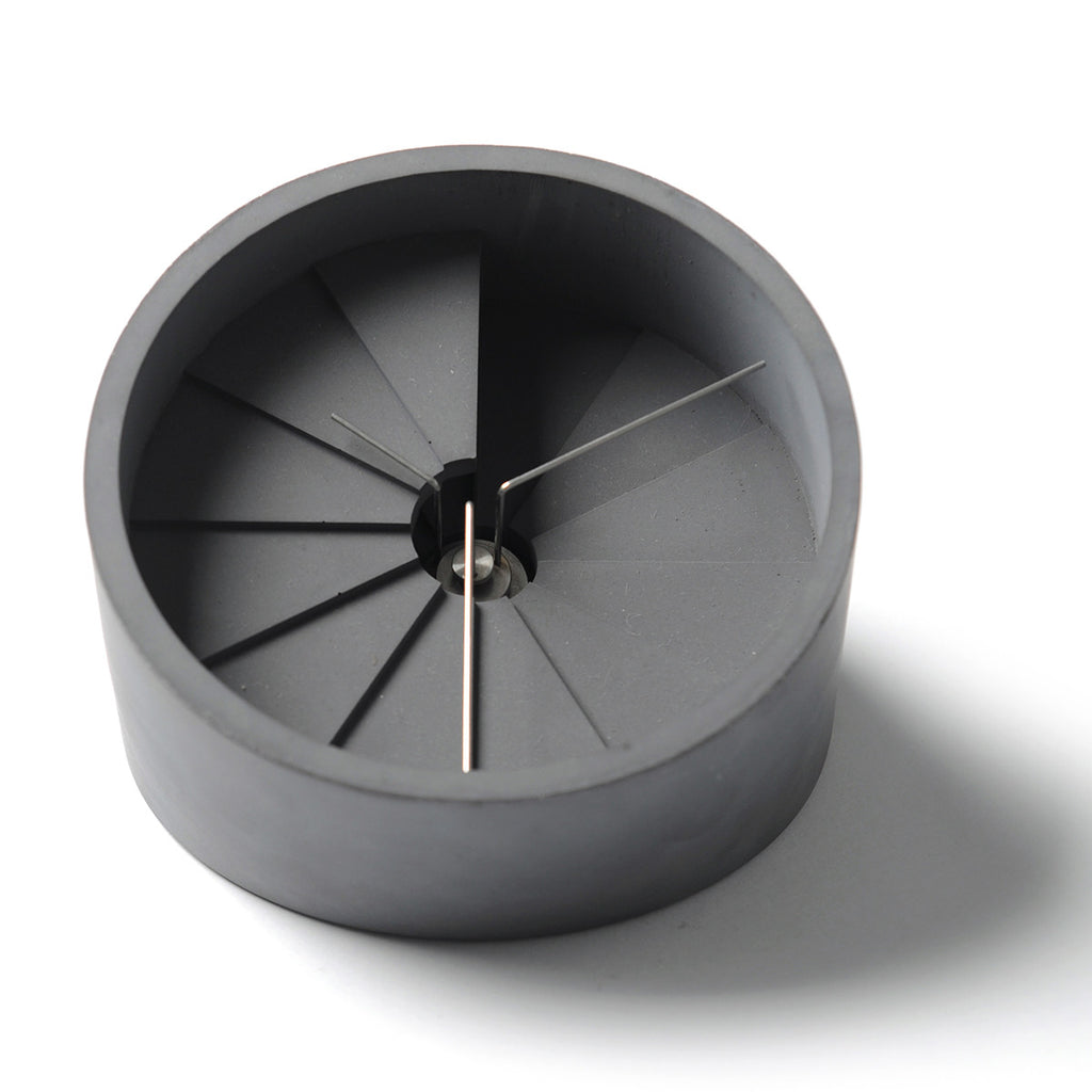 4th Dimension Table Clock (Silver/ Dark Gray)