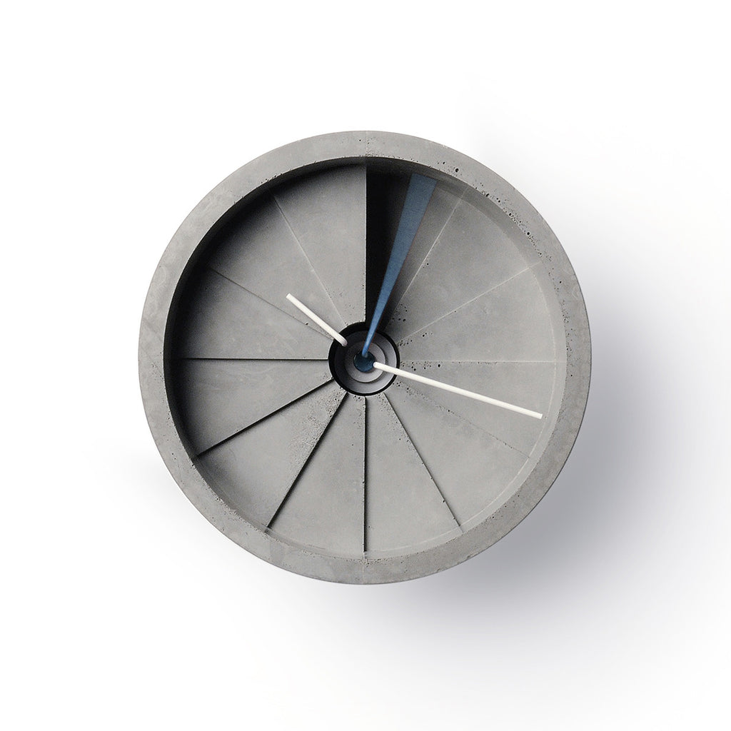 4th Dimension Wall Clock (Blue/ Gray)