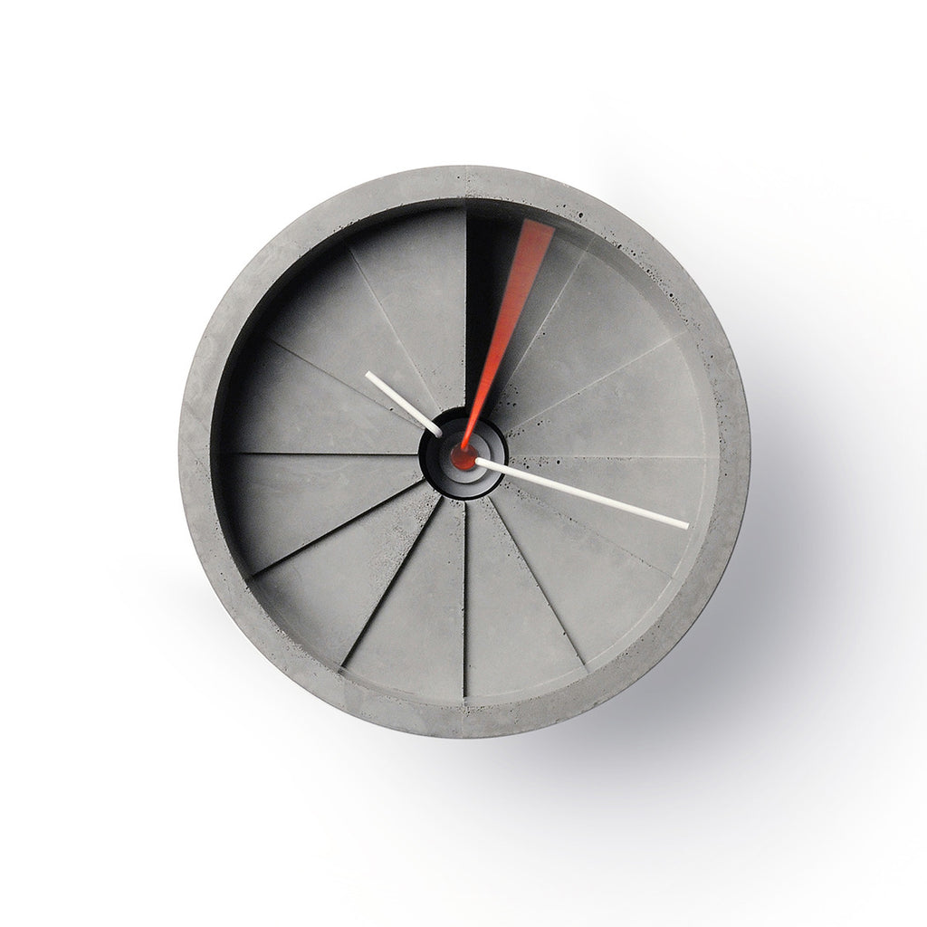 4th Dimension Wall Clock (Red/ Gray)