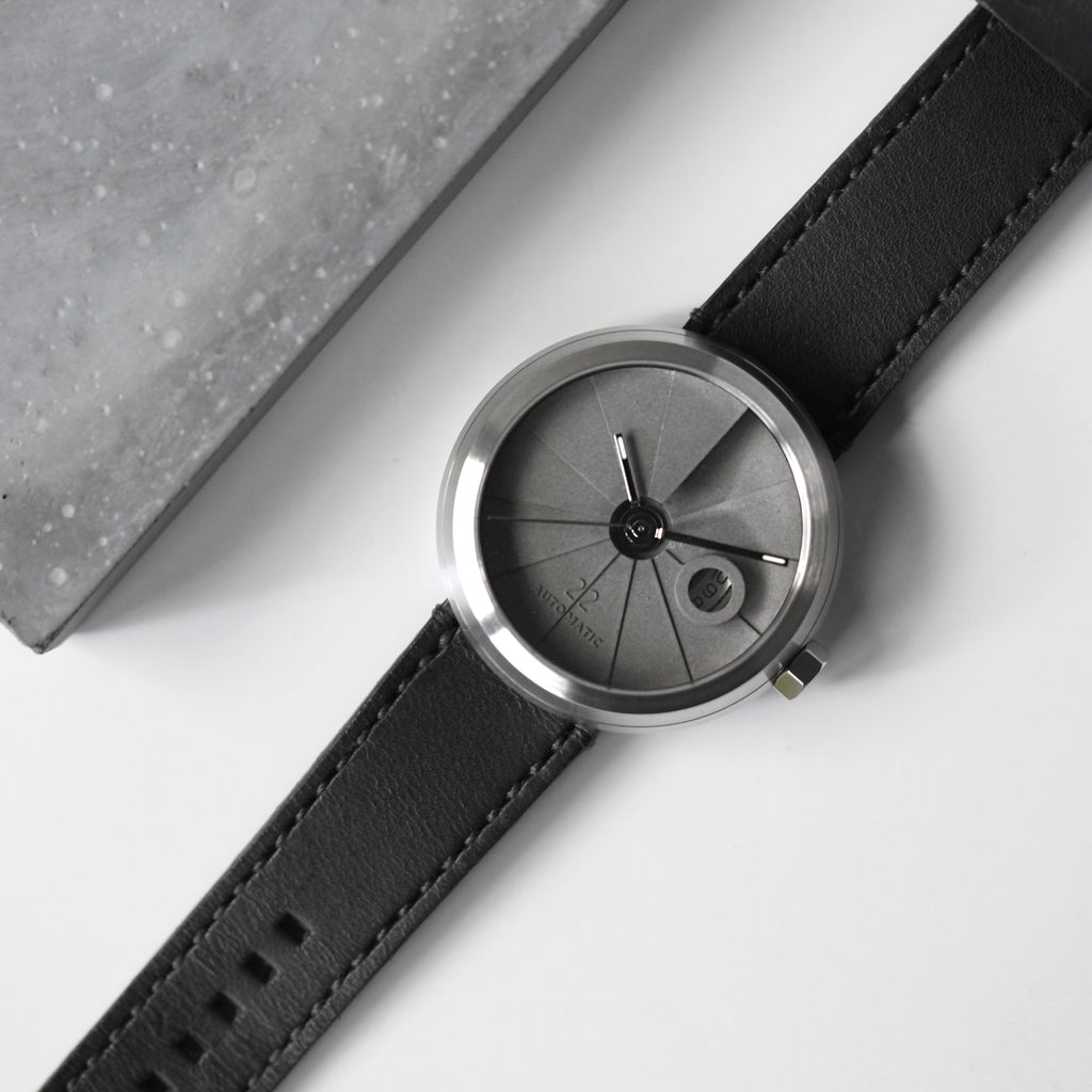 4D Concrete Watch Automatic - Minimal Edition Stainless Steel Look