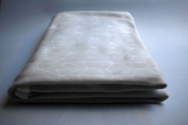 Organic Baby Swaddle Blanket - Grey Geometric - Little Dreamer Australia