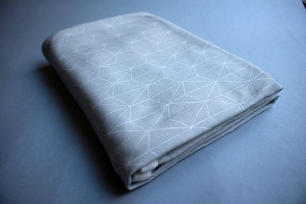 Organic Baby Swaddle Blanket - Grey Geometric