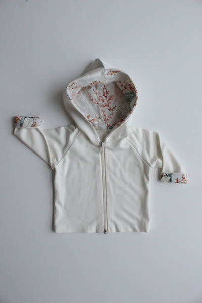 Hooded Jacket - Blue Birds
