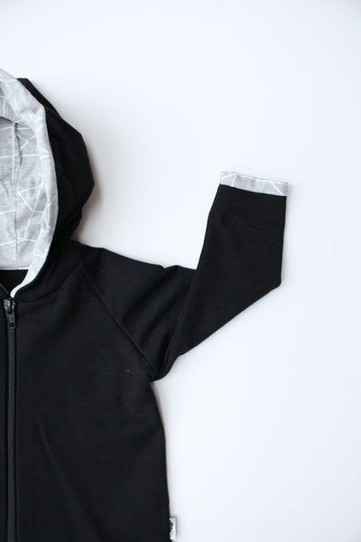 Hooded Jacket - Geometric