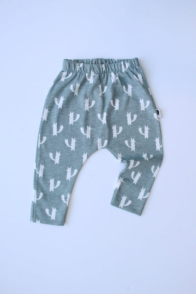 100% Cotton Harem Leggings - Fickle Fox (Grey)
