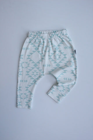 Organic Harem Leggings - Navajo Mint