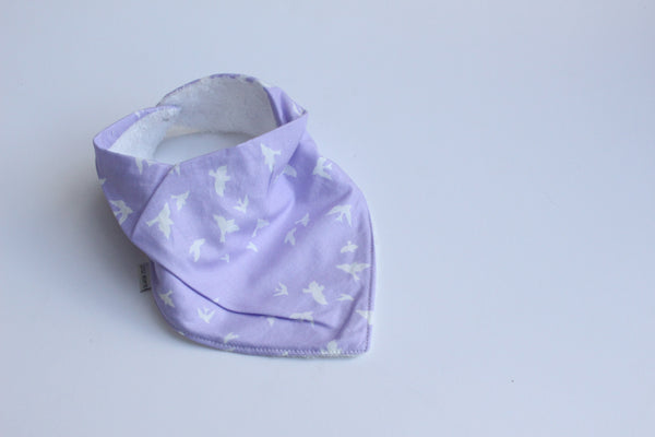 Bandana Bib - Birds of a Feather (Lilac)