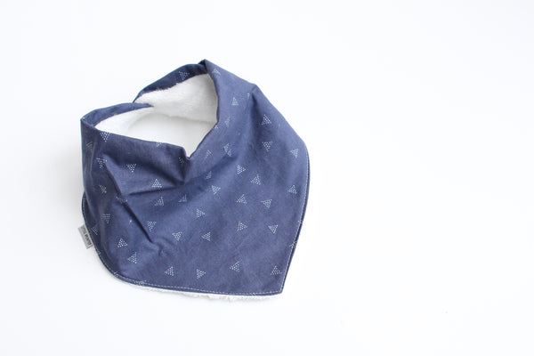 Bandana Bib - Triangle dots (Pacifica)
