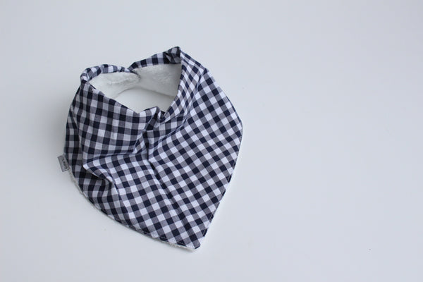 Bandana Bib - Gingham (Navy Small)