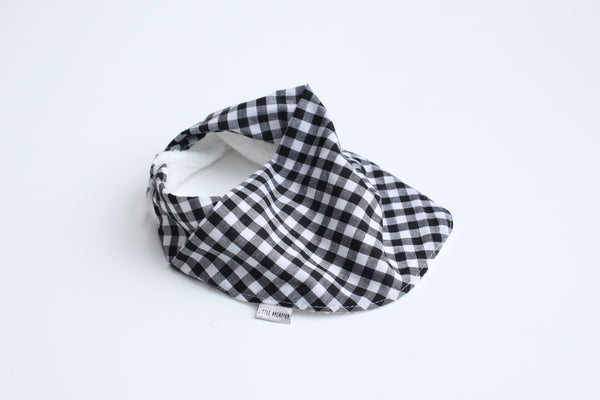 Bandana Bib - Gingham (Black Small)