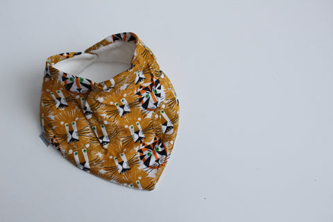 Organic Bandana Bib - Lions and Tigers
