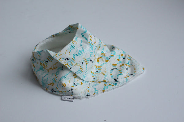 Organic Bandana Bib - Dawn Mountains