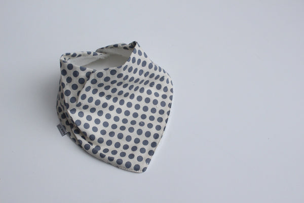 Bandana Bib - Grey Dots