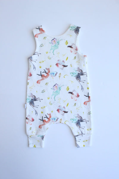 Whimsy Wings - Organic Harem Romper
