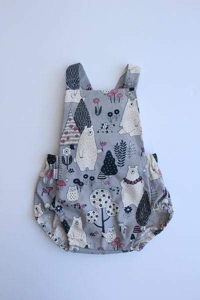 Summer Romper - Bear Necessities (Grey)