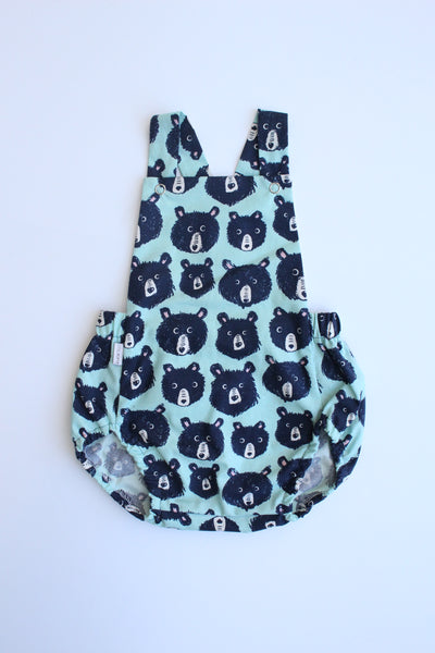 Summer Romper - Bears (Green)