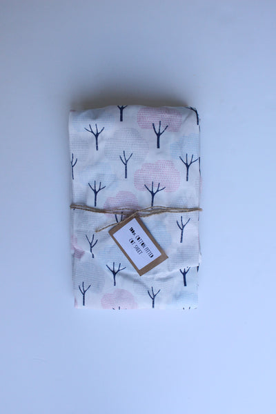 Fitted Cot Sheet - Trees (Organic)