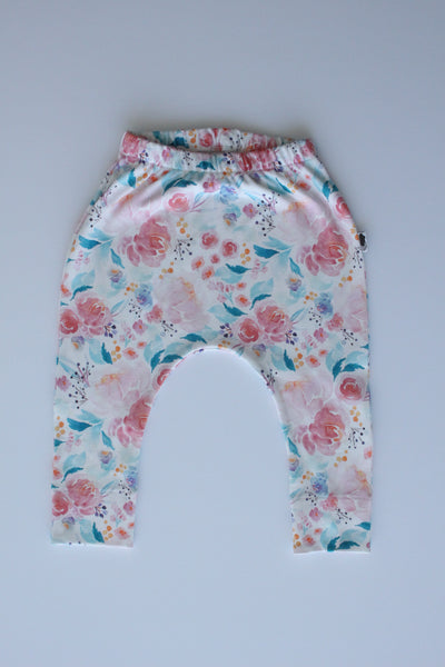 Organic Harem Leggings - Floral Dreams